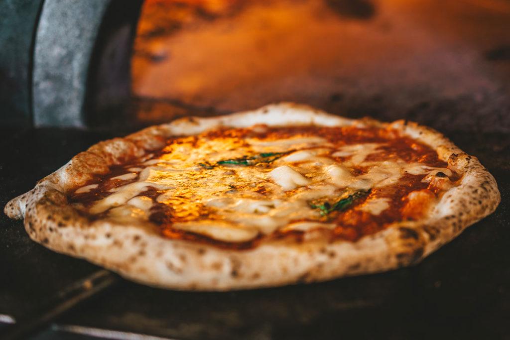 Pizza Margherita in Oven